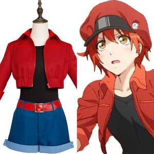 Cells at Work ! Erythrocite Red Blood Cell Cosplay Kostüm Uniform