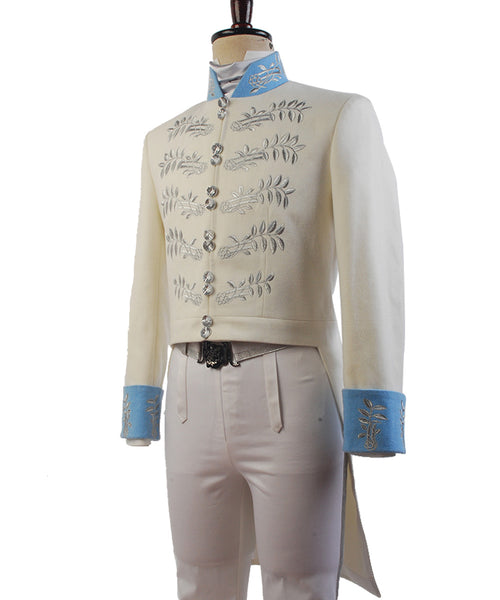 Cinderella 2015 Film Prinz Charming Kit Uniform Anzug Kostüm Cosplay Weiß