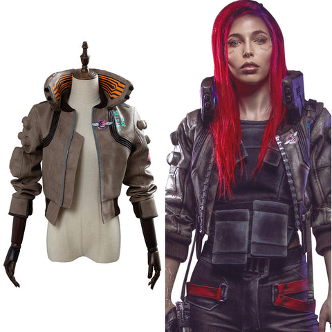 Cyberpunk 2077- V Video Spiel Top Jacke Cosplay Weblich Kostüm