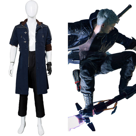 Devil May Cry V-nero (Beschädigte Version) Cosplay Kostüm Mantel