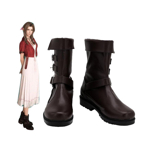 FF7 Final Fantasy Remake Aerith Gainsborough Stiefel Cosplay Schuhe
