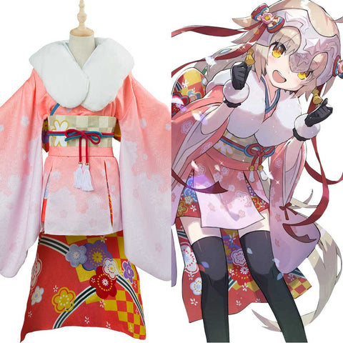 Fate/Grand Order Servant Lancer Jeanne d'Arc Alter Santa Lily Cosplay Kostüm Kimono