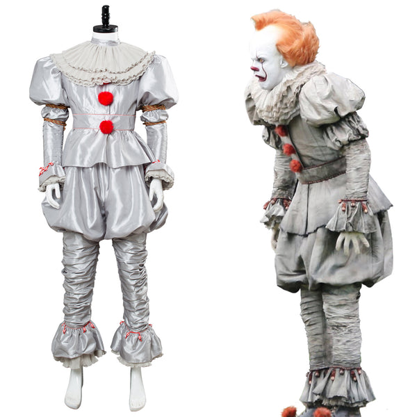 Film 2019 Es: Kapitel 2 Horrorclown Pennywise The Clown Outfit Cosplay Kostüm NEU