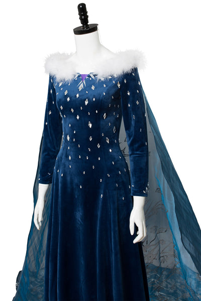 Frozen Olaf's Frozen Adventure Elsa Cosplay Kostüm Kleid