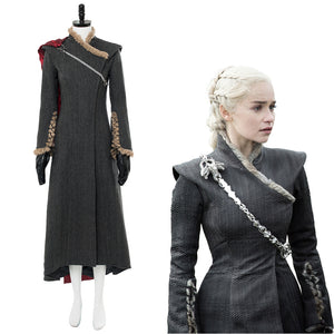 Game of Thrones Staffel 7 Daenerys Targaryen Kleid Cosplay Kostüm Neu Version
