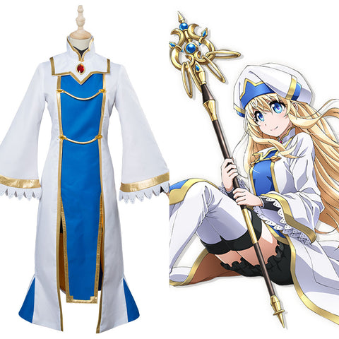 Goblin Slayer Priestess Cosplay Kostüm Kleid