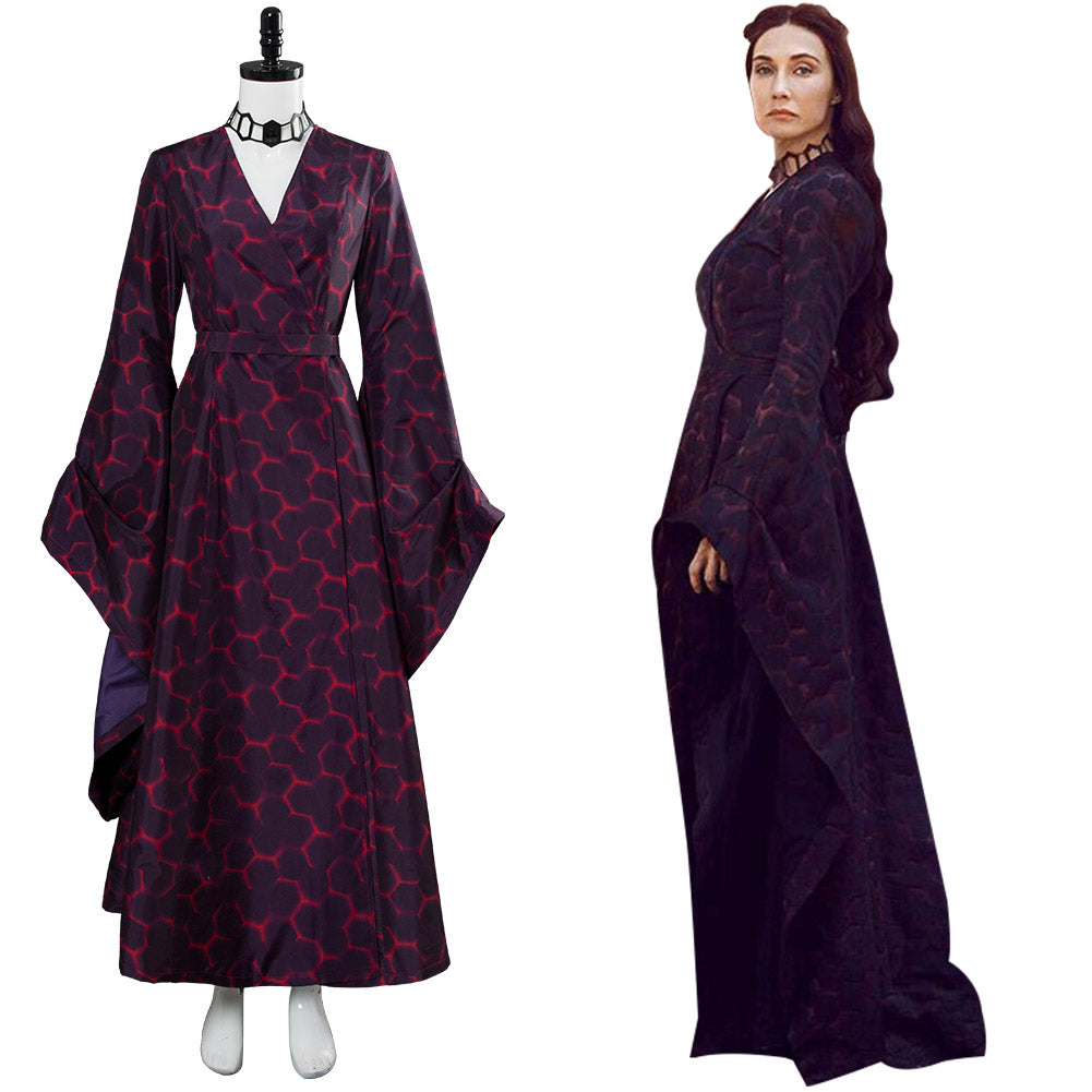 Got 8 Game of Thrones Staffel 8 Melisandre Kleid Cosplay Kostüm