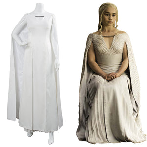 Got Game of Thrones Staffel 5 S5 Daenerys Targaryen Cosplay Kostüm Kleid für Damen
