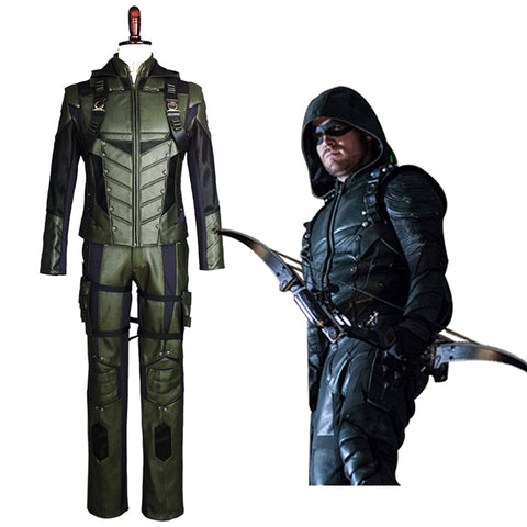 Green Arrow Season 5 Oliver Queen Cosplay Kostüm