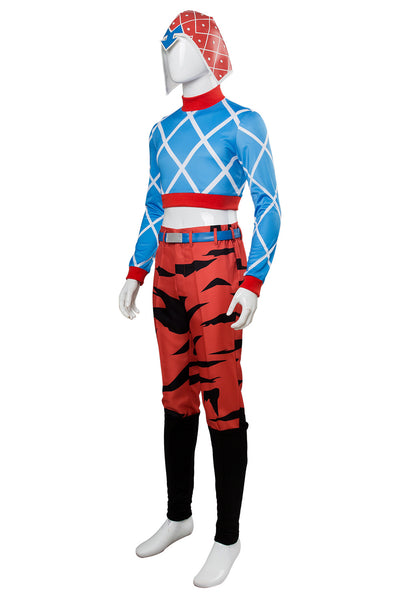 Jotaro Kujo JoJo's Bizarre Adventure Golden Wind Guido Mista Cosplay Kostüm Set