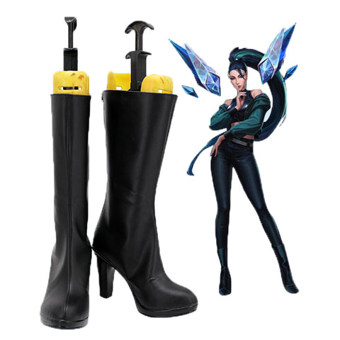 Kaisa K/DA League of Legends Kaisa THE BADDEST Stiefel Cosplay Schuhe