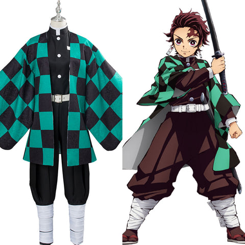 Demon Slayer Kimetsu no Yaiba Kamado Tanjirou Cosplay Kostüm