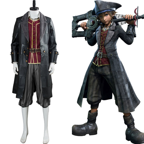 Kingdom Hearts III Kingdom Hearts 3 Pirat Sora Cosplay Kostüm NEU