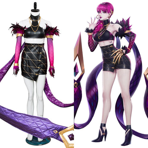 League of Legends K/DA Agony's Embrace Evelynn Skin Haut Cosplay Kostüm
