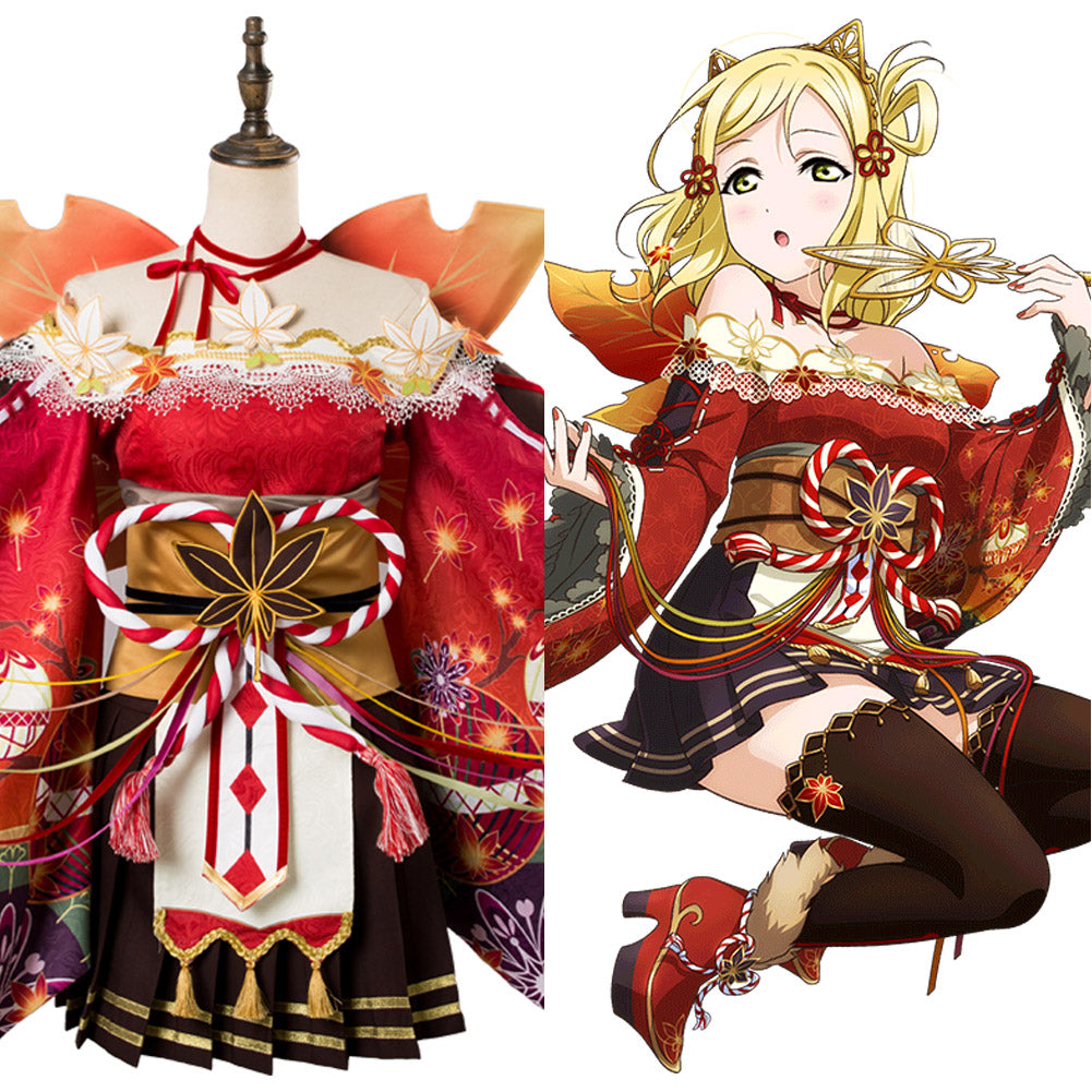 Love Live ! Mari Ohara Aqours Fall Leaves Ver. UR 1358 Cosplay Kostüm NEU