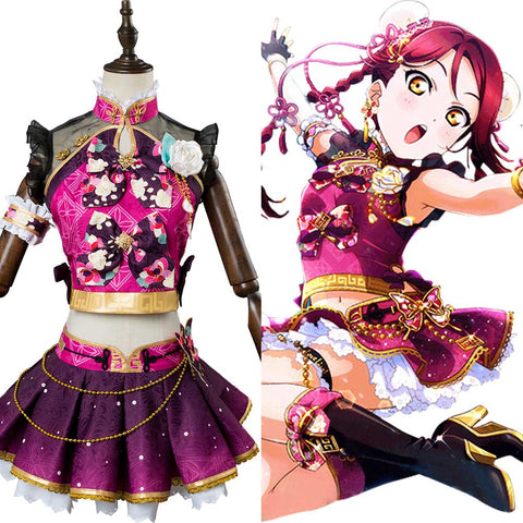 Love Live ! SunShine Aqours Riko Sakurauchi China Dress Ver. UR 1716 Cosplay Kostüm