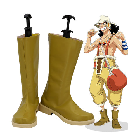 Lysop One Piece Stiefel Cosplay Schuhe Cosplay Stiefel