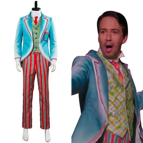 Mary Poppins' Rückkehr Mary Poppins Returns (2018) Jack Royal Doulton Bowl Cosplay Kostüm Suit