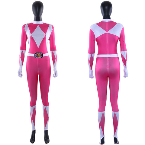 Mighty Morphin Power Rangers Jumpsuit Bodysuit Overall Kimberly Hart Rosa Cosplay Kostüm