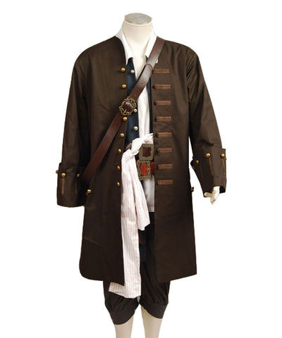 Pirates Of The Caribbean Jack Sparrow Johnny Depp Piraten der Karibik Full Set Cosplay Kostüm