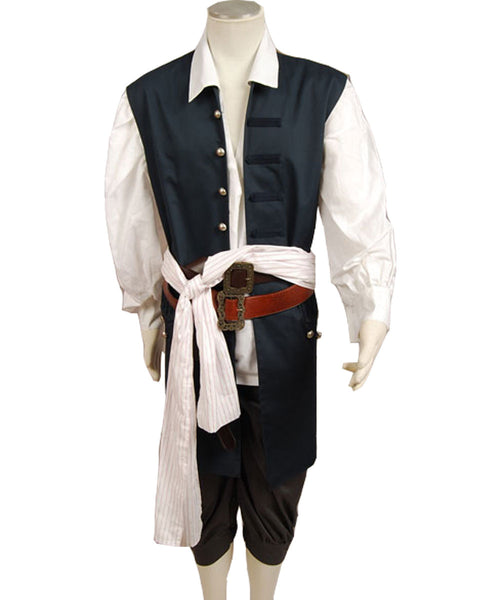 Pirates Of The Caribbean Jack Sparrow Johnny Depp Piraten der Karibik Weste Cosplay Kostüm
