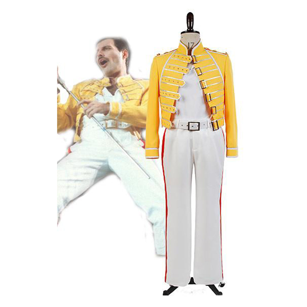 Queen Band Gesang Freddy Mercury Jacke Cosplay Kostüm