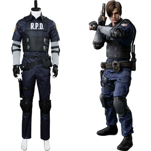 Resident Evil 2 Remake Re Leon Scott Kennedy Set Cosplay Kostüm