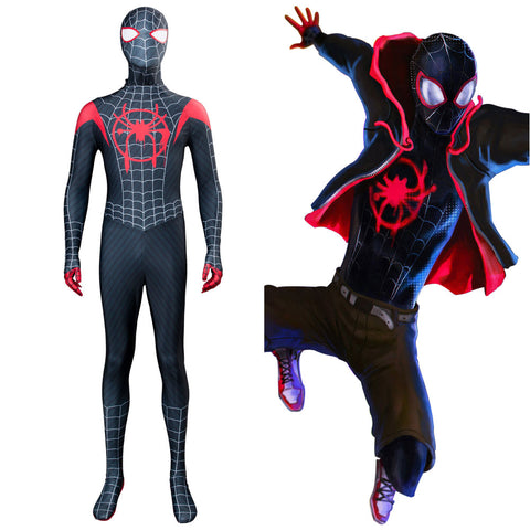 Spider-Man: Into the Spider-Verse Spider-Man: A New Universe Miles Morales Jumpsuit Cosplay Kostüm Mottoparty Karneval