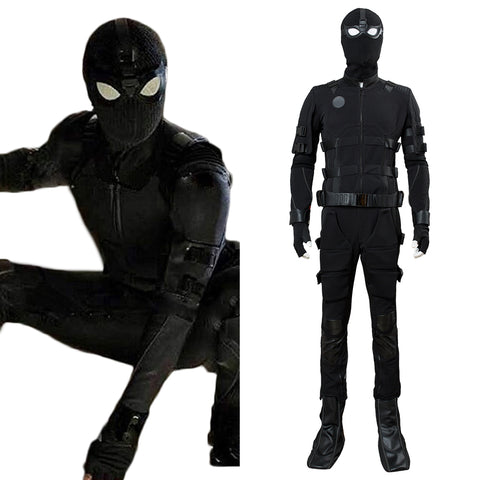 Spiderman 2: Far From Home Spider-Man Noir Avengers Peter Parker Tom Holland Uniform Cosplay Kostüm