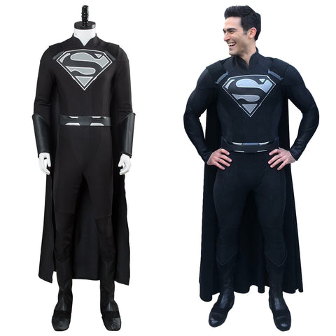 Supergirl Elseworlds Superman Tyler Hoechlin Arrowverse Crossover Jumpsuit Cosplay Kostüm Herren