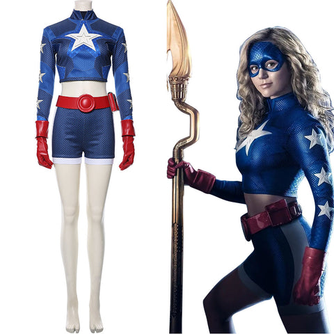 Superheldin Courtney Elizabeth Whitmore Stargirl Cosplay Kostüm Set