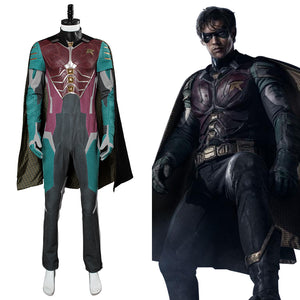 Teen Titans Robin Dick Grayson Cosplay Kostüm Karneval Mottoparty