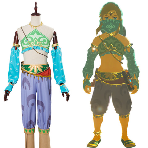 The Legend of Zelda: Breath of the Wild Die Legende von Zelda: Der Atem der Wildnis Link Cosplay Kostüm