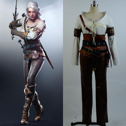 The Witcher 3 Wild Hunt Ciri Cirilla Fiona Elen Cosplay Kostüm