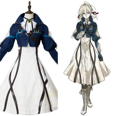 Violet Evergarden Vaioretto Evagaden Violet Kleid Cosplay Kostüm Set