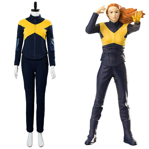 X-Men: Dark Phoenix Raven / Mystique Cosplay Kostüm Jumpsuit Neu