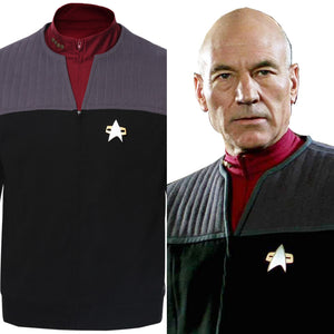 Star Trek Generations Captain Jean-Luc Picard Cosplay Kostüm Jacke