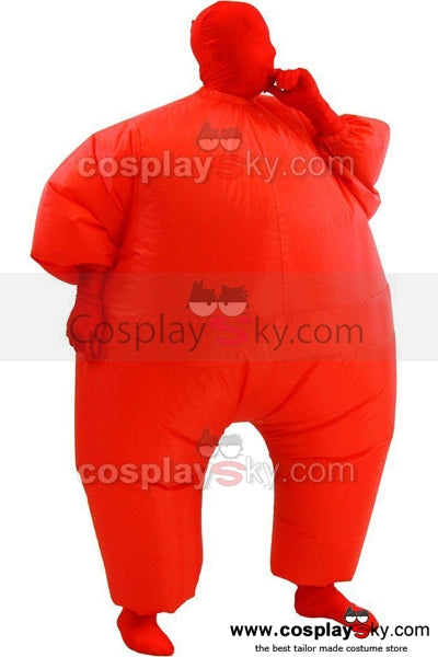 Erwachsene Fatsuit Inflatable Kostuem Jumpsuit Rot