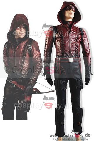 Arrow Season 3 Red Arrow Roy Harper Arsenal Rot Cosplay Kostüm