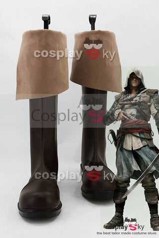 Assassin's Creed 4/IV: Black Flag Edward Kenway Cosplay Schuhe