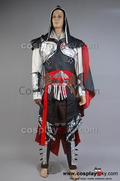 AC Credo des Assassinen Assassin's Creed II Brotherhood Revelations Ezio Auditore Cosplay Kostüm Outfit Neu