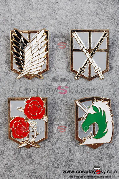 Attack on Titan Shingeki no Kyojin Badges Key Chain Cosplay Props