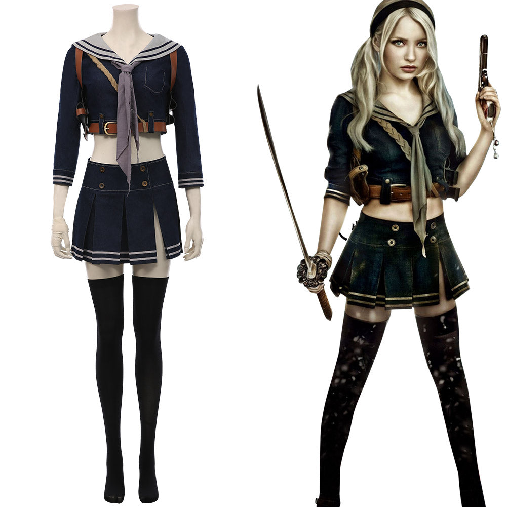 Sucker Punch Babydoll Kostüm Cosplay Kostüm Halloween Karneval Kostüm Set