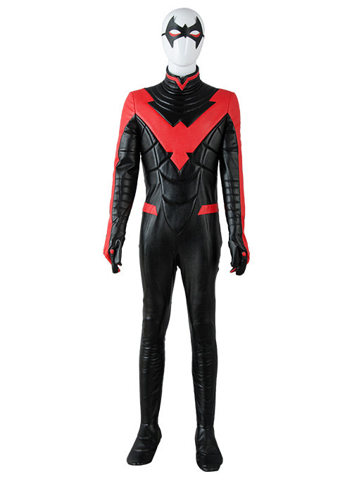 Batman Young Justice Nightwing Neu 52 Rot Jumpsuit Cosplay Kostüm