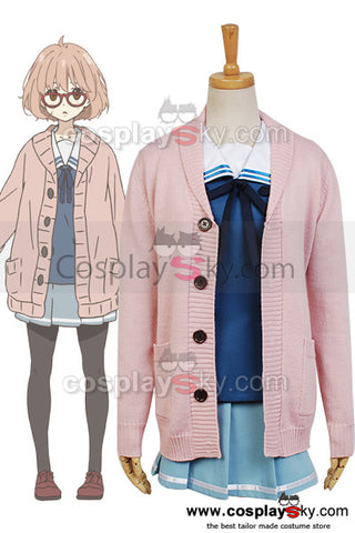 Beyond the Boundary Mirai Kuriyama Cosplay Kostuem(not includes Cardigan)