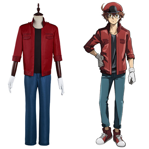 Red Blood Cell Sekkekkyuu Cells at Work! Code Black Kostüm Cosplay Set