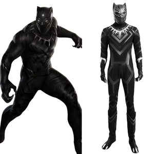 Captain America 3: Civil War Black Panther Jumpsuit Cosplay Kostüm