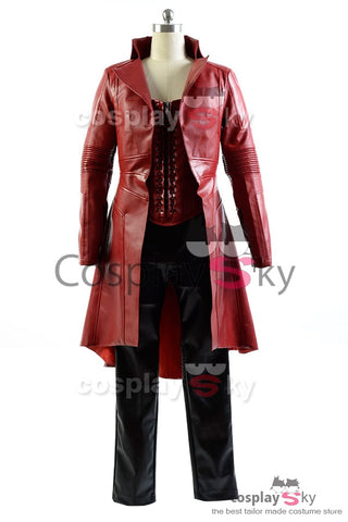 Captain America Civil War Avengers Scarlet Witch Wanda Outfit Cosplay Kostüm