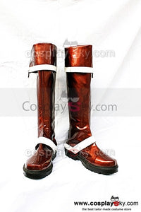 D.Gray-man Lavi.JR.Bookman Cosplay Stiefel Braun