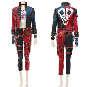 Harleen Quinzel Suicide Squad: Kill the Justice League Harley Quinn Cosplay Kostüm T-Shirt Pants Outfits Halloween Karneval Suit